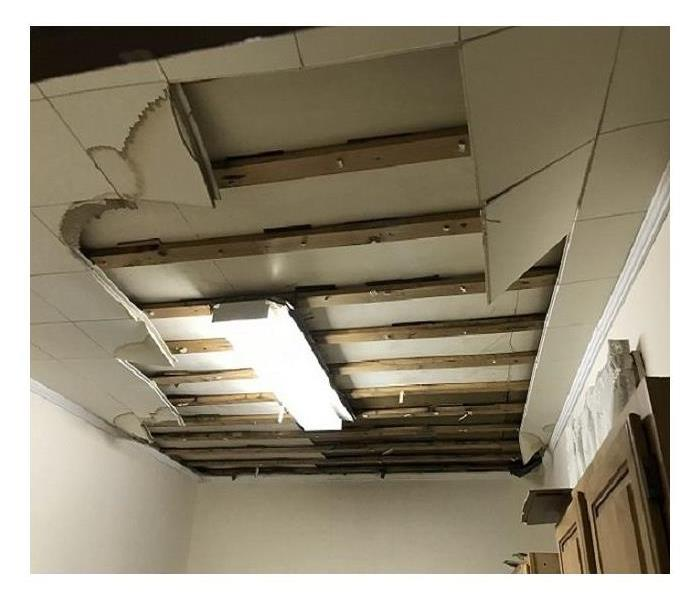 kitchen ceiling tiles falling